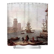 Departure Of Ulysses From The Land Of The Feaci  Shower Curtain