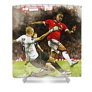 Depay In Action Shower Curtain