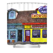 Depoe Bay Oregon - Chowder Bowl Shower Curtain