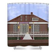 Depot Cafe And Club Car Lounge Shower Curtain
