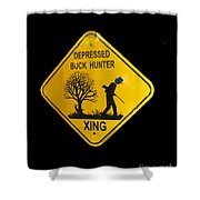 Depressed Buck Hunter Shower Curtain