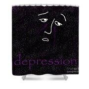 Depression Shower Curtain