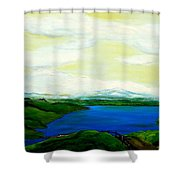 Der Bodensee Shower Curtain