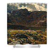 Der Hintere Murgsee. St. Galler Alpen. 1878 Shower Curtain