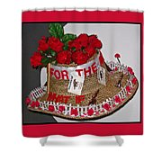 Derby Day Hat - 2 Shower Curtain