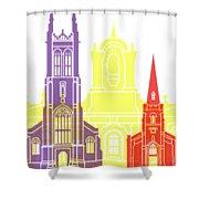 Derby Skyline Pop Shower Curtain