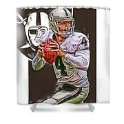 Derek Carr Oakland Raiders Oil Art Shower Curtain