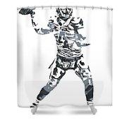 Derek Carr Oakland Raiders Pixel Art 11 Shower Curtain
