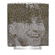 Derek Jeter Baseballs Mosaic Shower Curtain