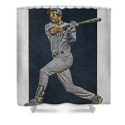 Derek Jeter New York Yankees Art 2 Shower Curtain
