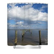 Derelict Dock Shower Curtain