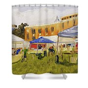 Derry Homegrown Market Shower Curtain