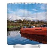 Derwent Water Harbor Shower Curtain