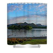 Derwentwater Spring Sunset Shower Curtain