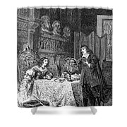 Descartes Teaching Queen Christina, 1649 Shower Curtain