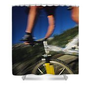 Descending A Mountain Trail Into Yankee Shower Curtain