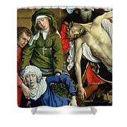 Descent From The Cross Shower Curtain by Rogier van der Weyden