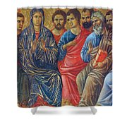 Descent Of The Holy Spirit Upon The Apostles Fragment 1311 Shower Curtain