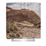 Desert Badlands Shower Curtain