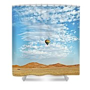 Desert Balloon Shower Curtain