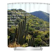 Desert Blossoms As The Rose Shower Curtain