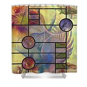 Desert Blossoms - Square Version Shower Curtain
