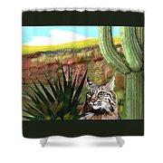Desert Bobcat Shower Curtain