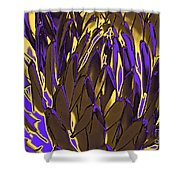 Desert Botanical 3 In Brown Shower Curtain