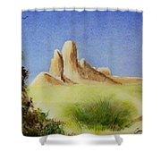 Desert Butte Shower Curtain