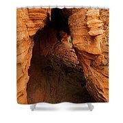 Desert Cavern Shower Curtain