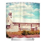 Desert Chapel Shower Curtain