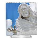 Desert Christ Park Shower Curtain