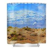 Desert Contrasts Shower Curtain by Michelle Dallocchio