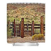 Desert Corral Shower Curtain