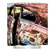 Desert Drive Shower Curtain