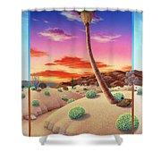Desert Gazebo Shower Curtain