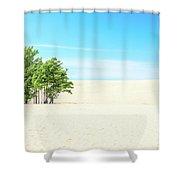 Desert Green Trees Shower Curtain