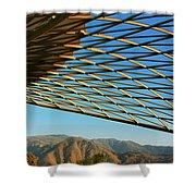 Desert Grid Shower Curtain