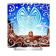Desert Hallucinogens Shower Curtain