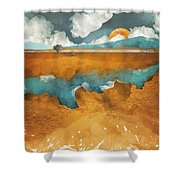 Desert Lake Shower Curtain