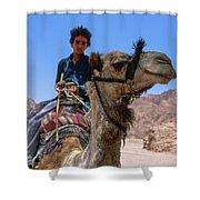 Desert Locomotion Shower Curtain