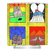 Desert Love Shower Curtain