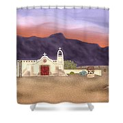 Desert Mission Shower Curtain