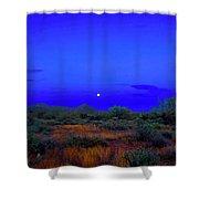 Desert Moon Scape Shower Curtain