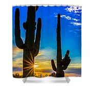 Desert Morning Sunrise Shower Curtain