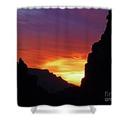 Desert Mountain Sunset Shower Curtain