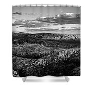 Desert Overlook #2 Bw Shower Curtain