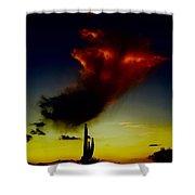 Desert Phantom Shower Curtain
