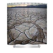 Desert Playa Circle Shower Curtain