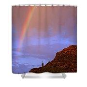 Desert Rainbow Shower Curtain